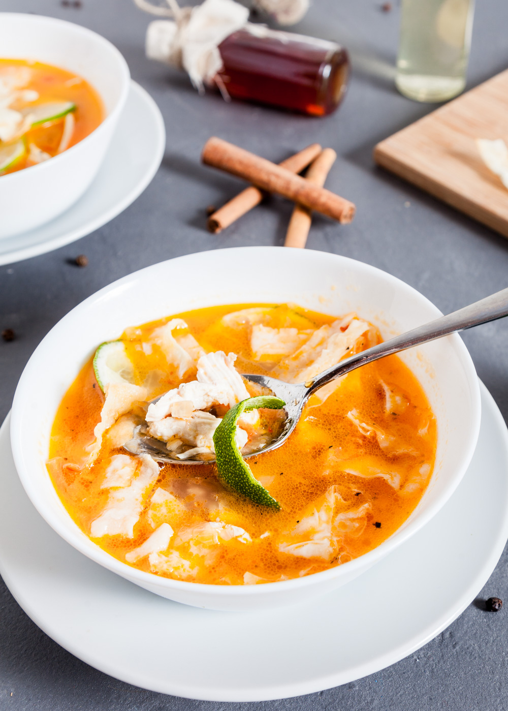 Пошаговый рецепт простого Мексиканского лаймового супа