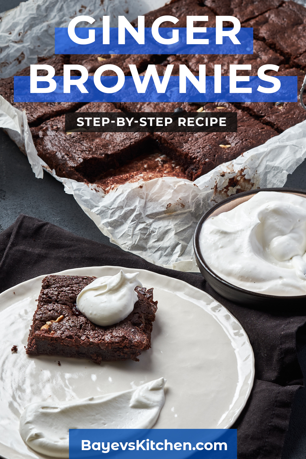 Ginger Brownies Step By Step Recipe