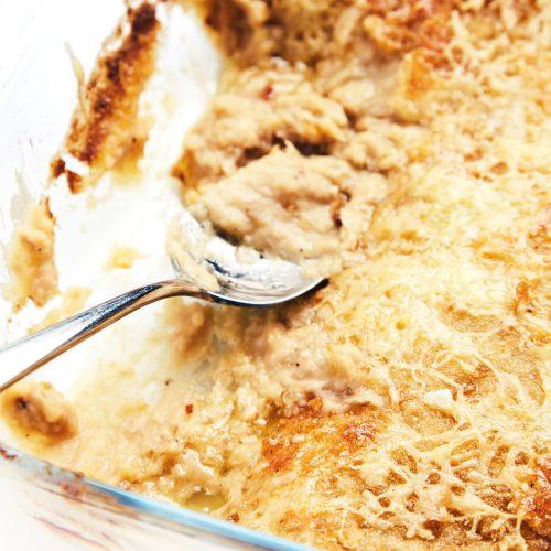 Пошаговый рецепт простого гратэна с тунцом и белой фасолью