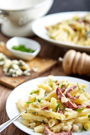 Penne Pasta With Celery Sauce easy to make step-by-step recipe
