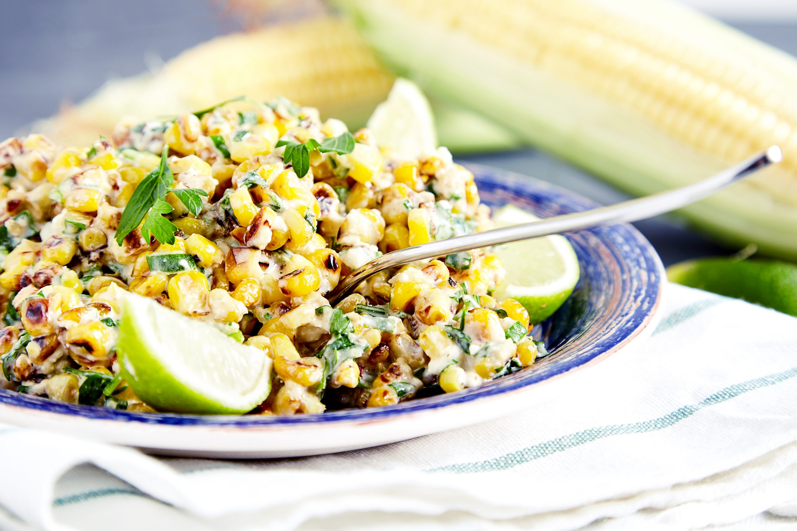 You can serve it either warm or cold mexican corn salad