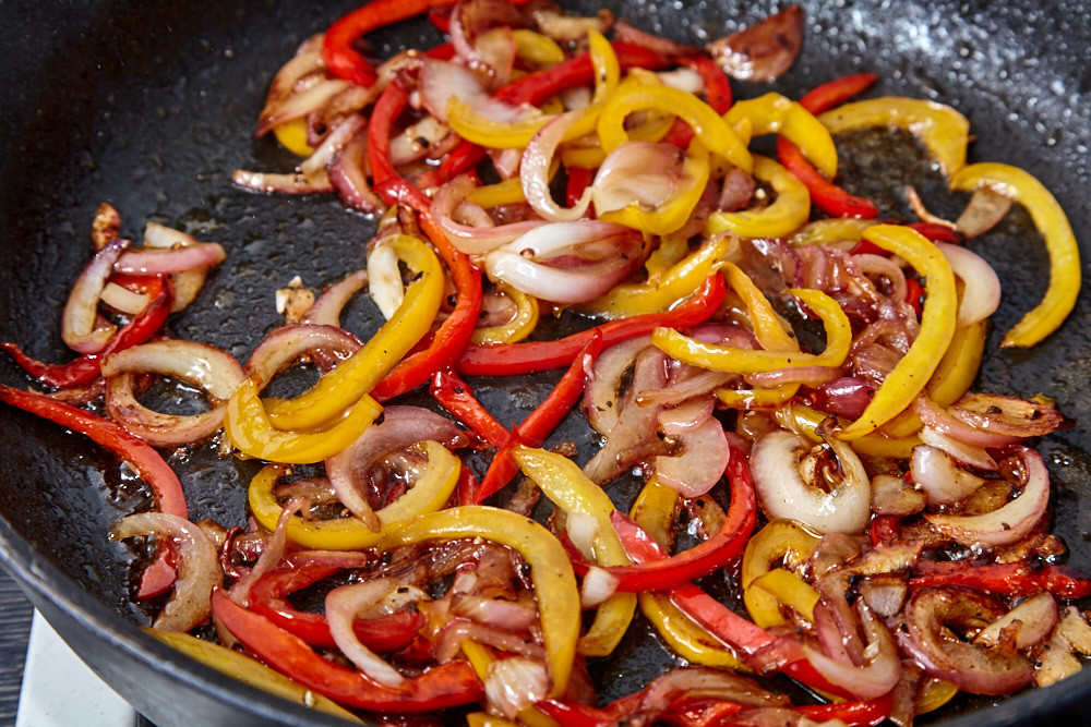 Add 3 tbsp of red wine vinegar for pork with a sweet pepper