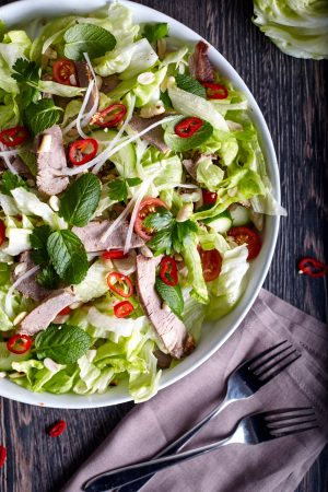Zesty Thai Salad with Beef easy to make step-by-step recipe