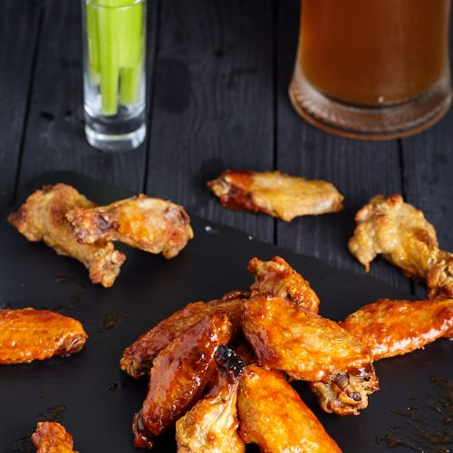 Roasted Buffalo Wings easy to make step-by-step recipe