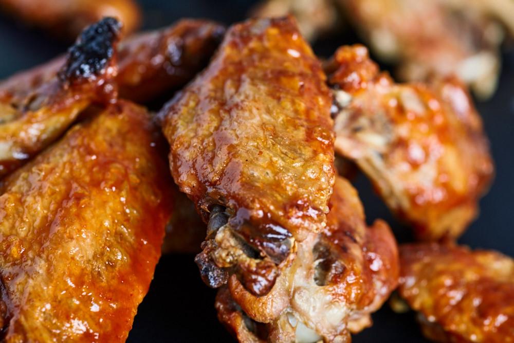 Serve roasted buffalo wings