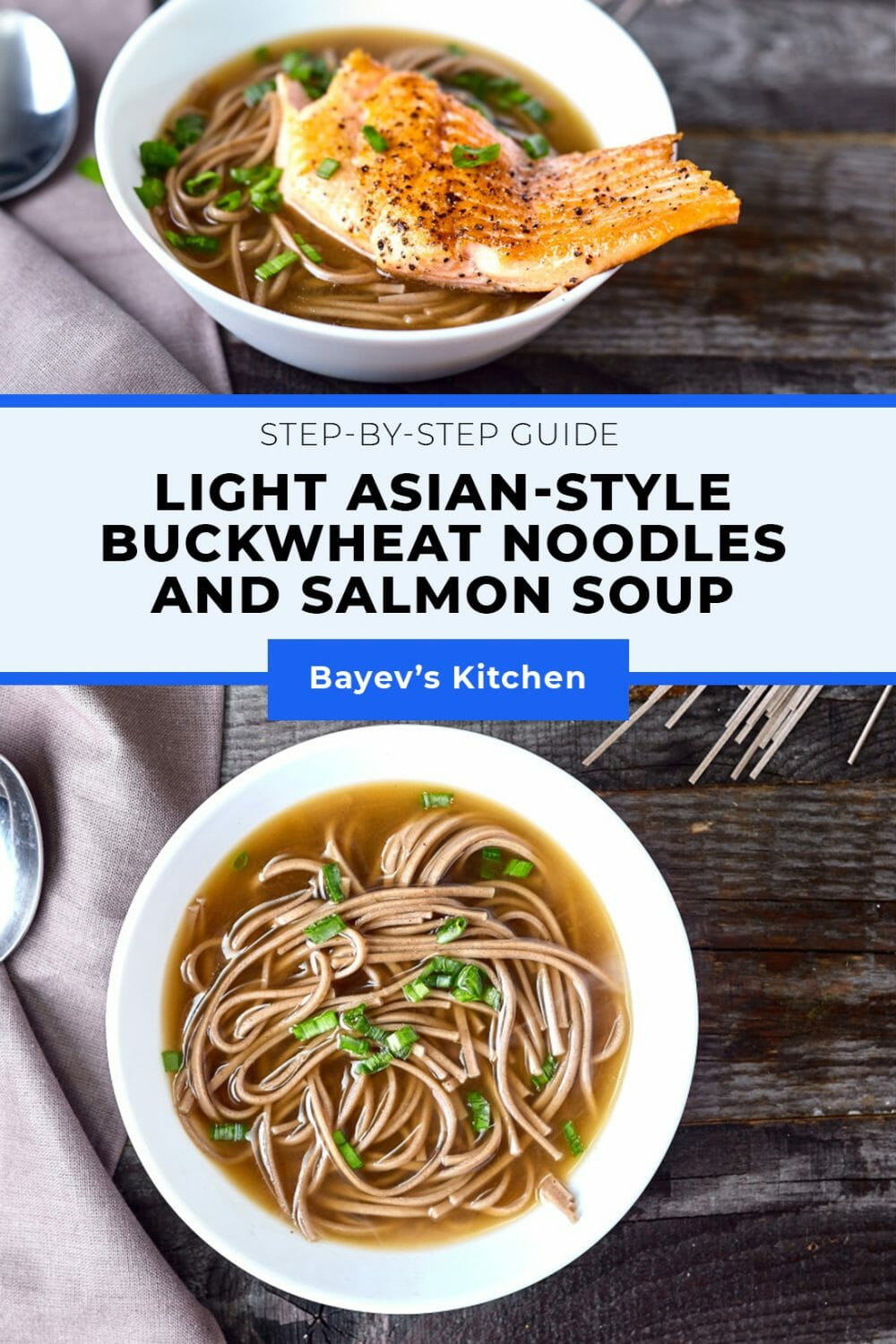 The main advantage of this soup is that you don't need any exotic ingredients. The one that you might have problems with finding is buckwheat noodles. In case you are the one it has happened to, on an exceptional basis I'll let you replace it with rice or wheat Chinese noodles. The taste of soup highly depends on the broth. Preferably to cook it yourself, but in this case, we'll waste time and mobility. Personally I used a bouillon cube, but it's totally up to you. #souprecipes #asiansoups