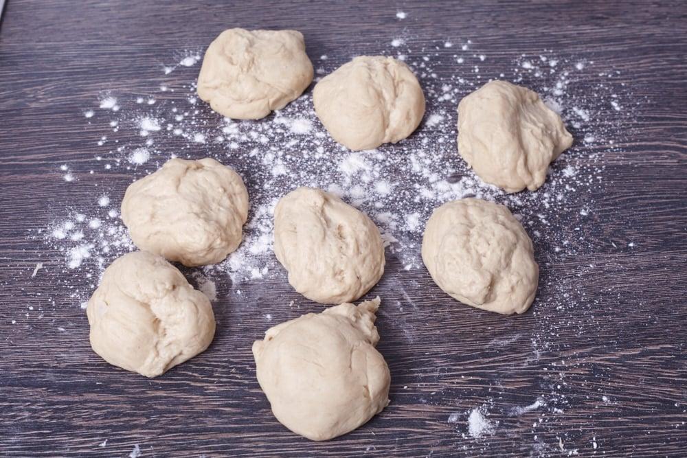 Divide the dough for perfect hamburger rolls