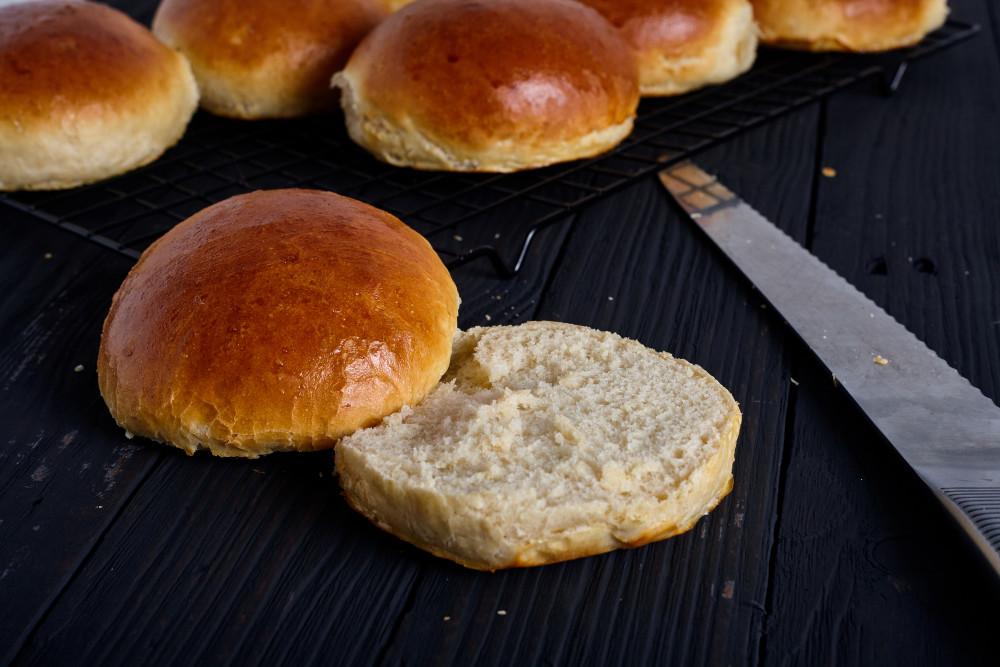 Serve perfect hamburger rolls
