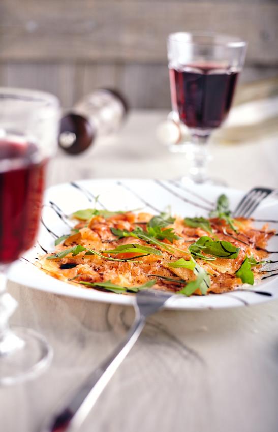 Пошаговый рецепт простого карпачо из лосося с дыней