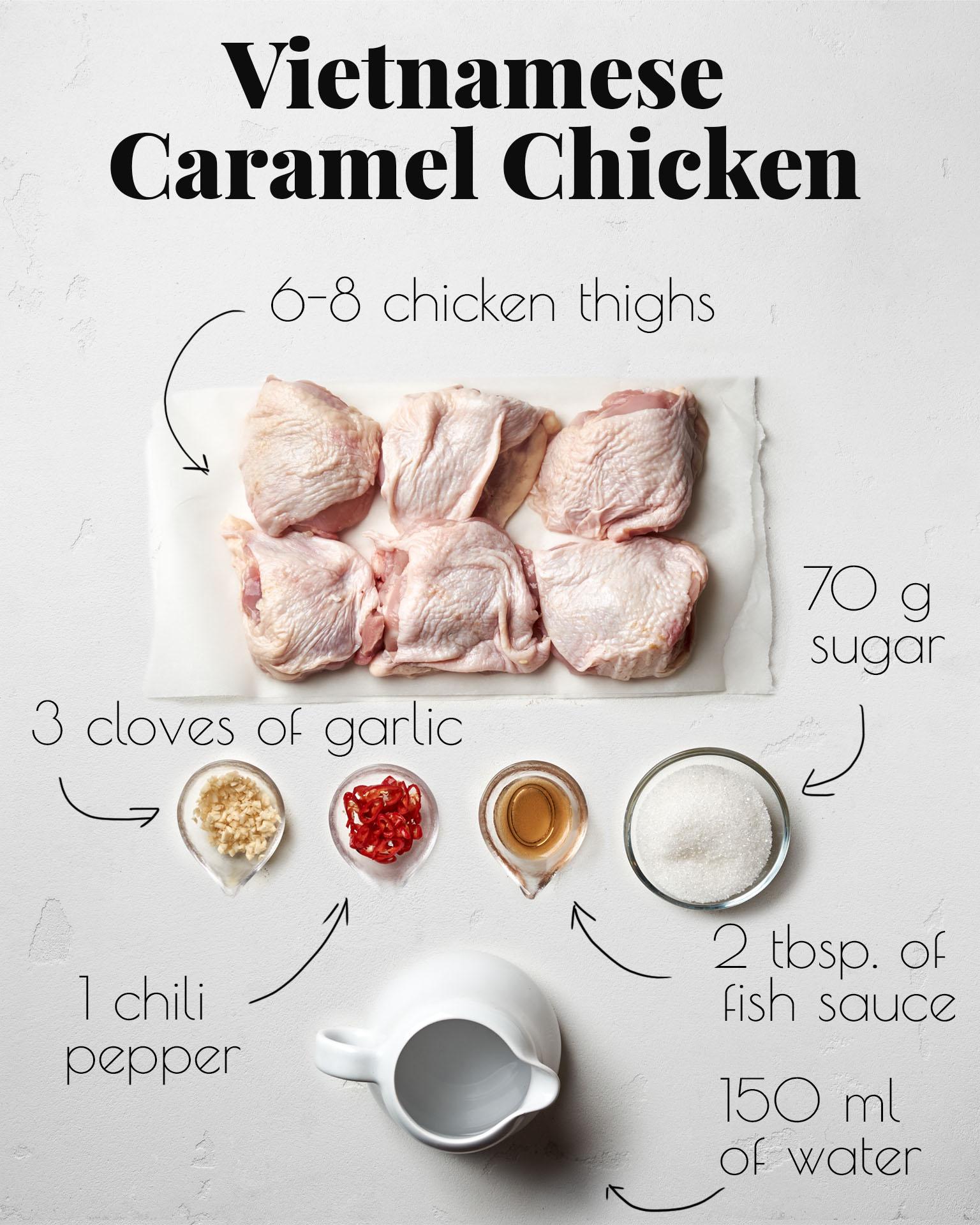 Caramel Chicken Ingredients