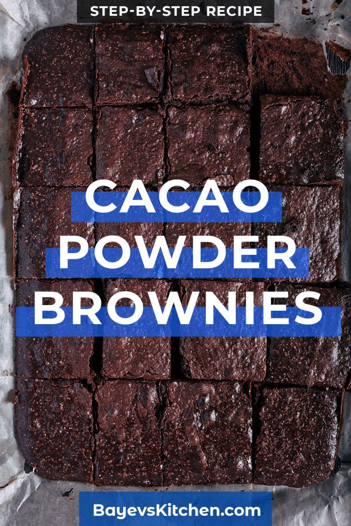 Cacao Powder (No-Chocolate) Brownies Recipe This is a kind of economy variant of the world-famous brownie dessert. The savings are achieved by using cocoa powder instead of chocolate. However, it is not only about savings. The brownies in this recipe are less sweet than the original ones. If you do not like it, try adding more sugar, but do not overdo it: increase it by no more than 10-15%. |  via @bayevskitchen