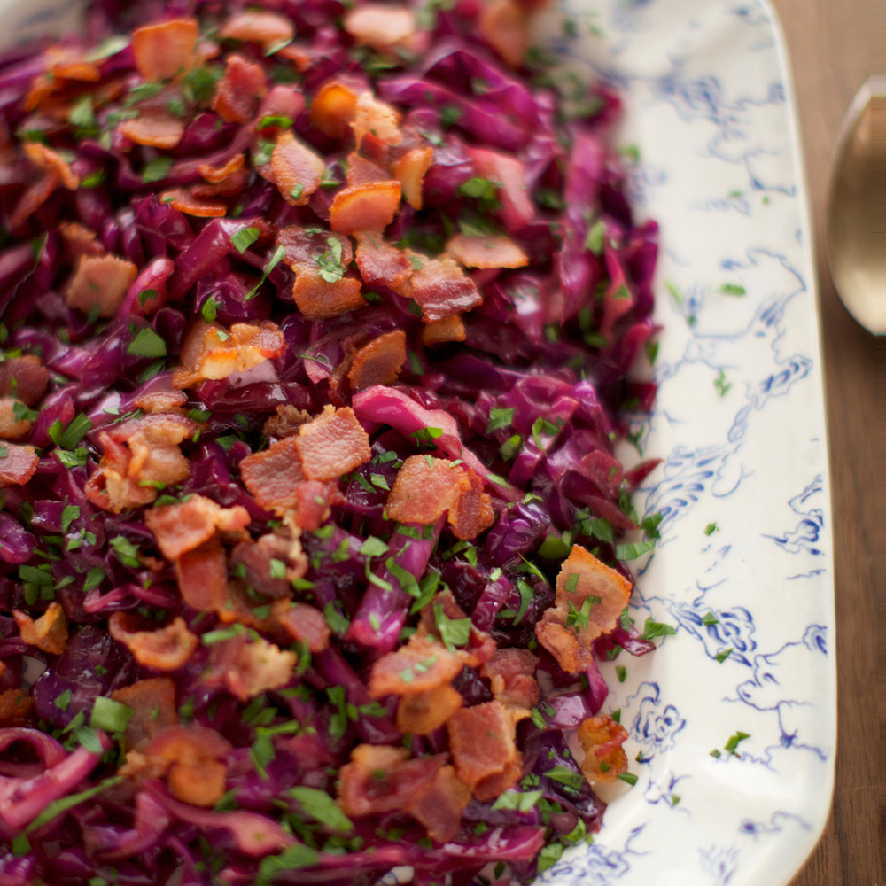 # 14 Fried red cabbage with bacon - Foodandwine's recipe - - 23 red cabbage recipe ideas