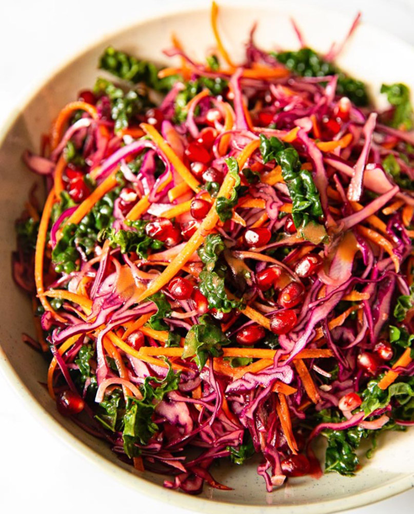 # 4 Winter salad with red cabbage, kale and pomegranate Vikalinka's recipe - 23 red cabbage recipe ideas