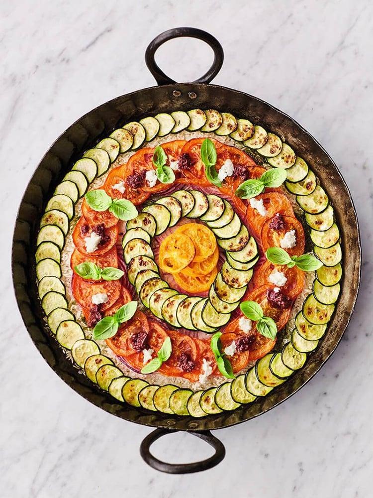 №19 Средиземноморский овощной рис - Рецепт от Jamieoliver |30+ рецептов из кабачков