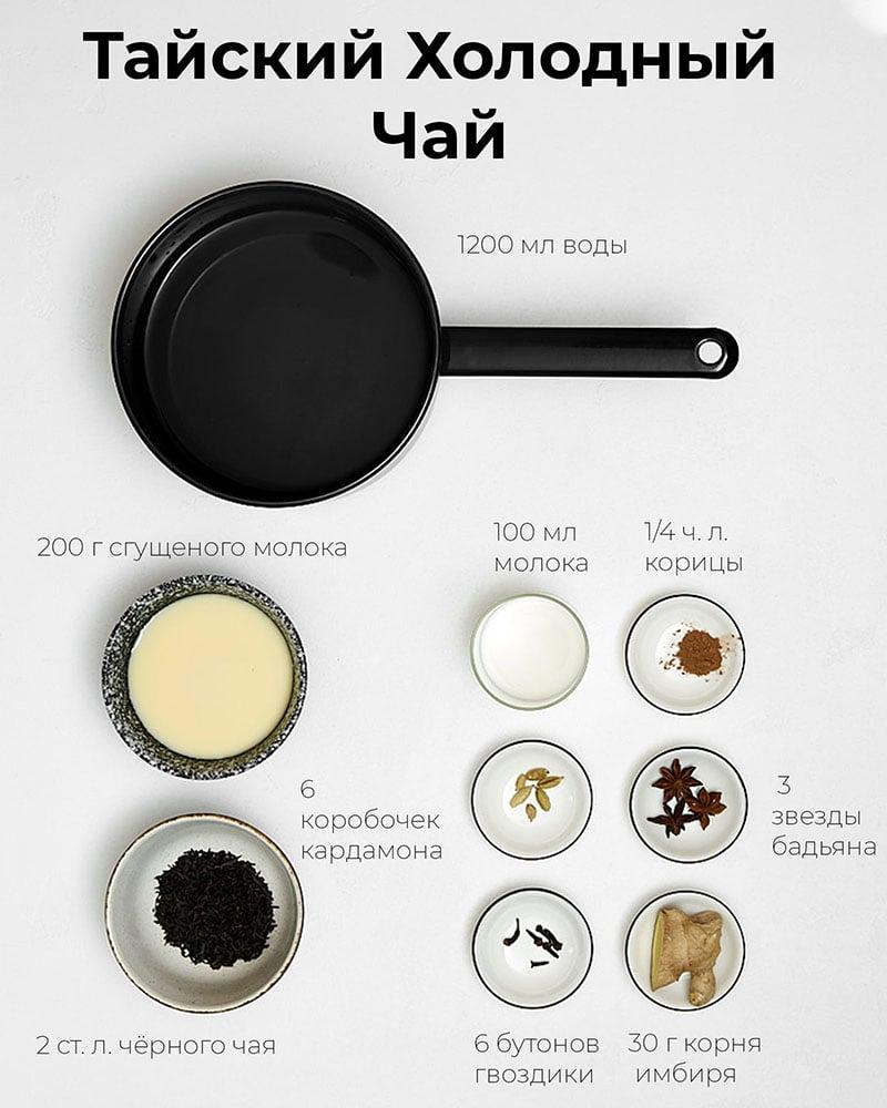 Тайский холодный чай - Ингредиенты