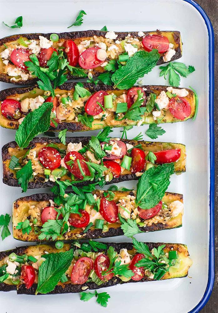 #5 Фаршированные кабачки-лодочки- Рецепт от Themediterraneandish|30+ рецептов из кабачков