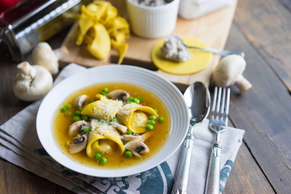 #8 Тортеллини с грибами и сыром - Рецепт от Andychef   10 рецептов из шампиньонов