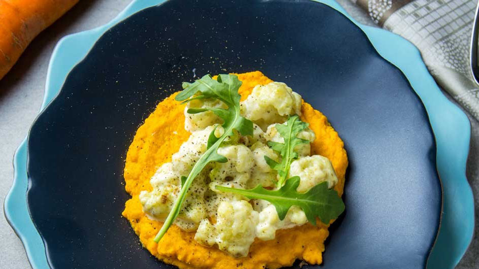 #17 Цветная капуста с морковным пюре - Рецепт от Клопотенко| 20 идей для рецептов из капусты