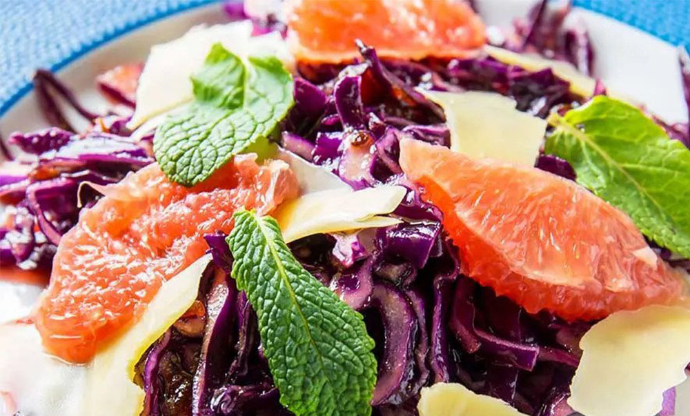 #6 Red cabbage salad with grapefruit - Klopotenko's recipe - - 23 red cabbage recipe ideas