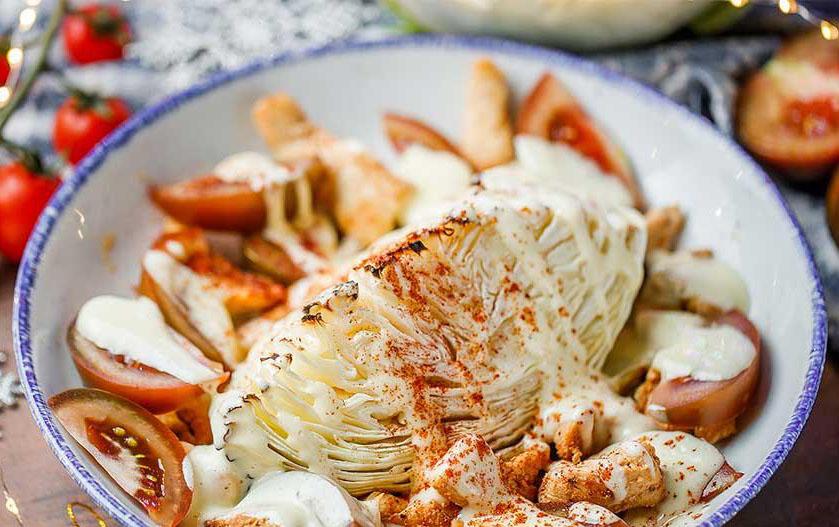 # 16 Салат из запечённой капусты и курицы. - Рецепт от Клопотенко| 20 идей для рецептов из капусты
