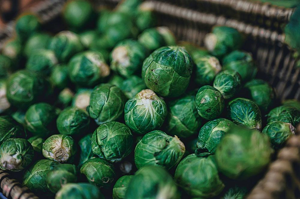 Соцветия брюссельской капусты