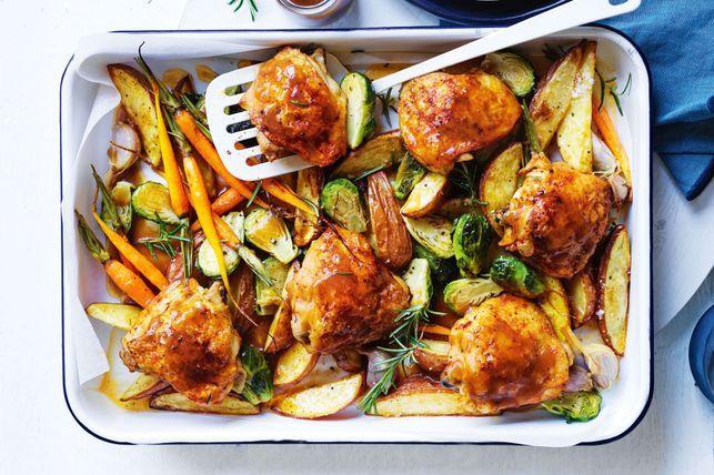 #5 Baked chicken with garlic and rosemary-Taste's recipe | 12 garlic recipe ideas