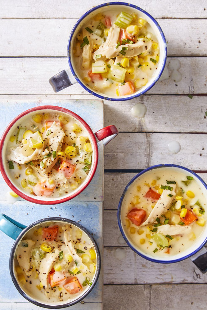 #11  Cream soup with chicken and corn. Goodhousekeeping's recipe | 30 chicken fillet recipe ideas