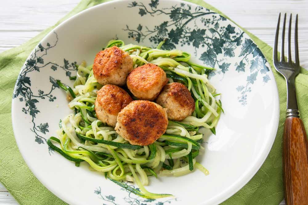 #27  Chicken cutlets with zucchini noodles.  Klopotenko's recipe | 30 chicken fillet recipe ideas