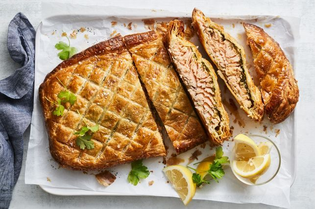 #4 Salmon with garlic and Wellington butter - Taste's recipe | 12 garlic recipe ideas