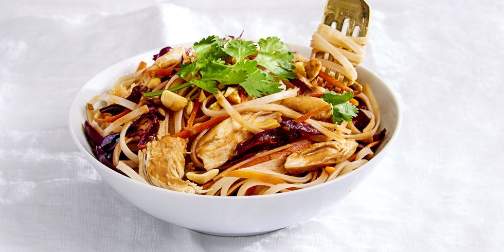 #22 Nutty noodles with chicken. Goodhousekeeping's recipe | 30 chicken fillet recipe ideas