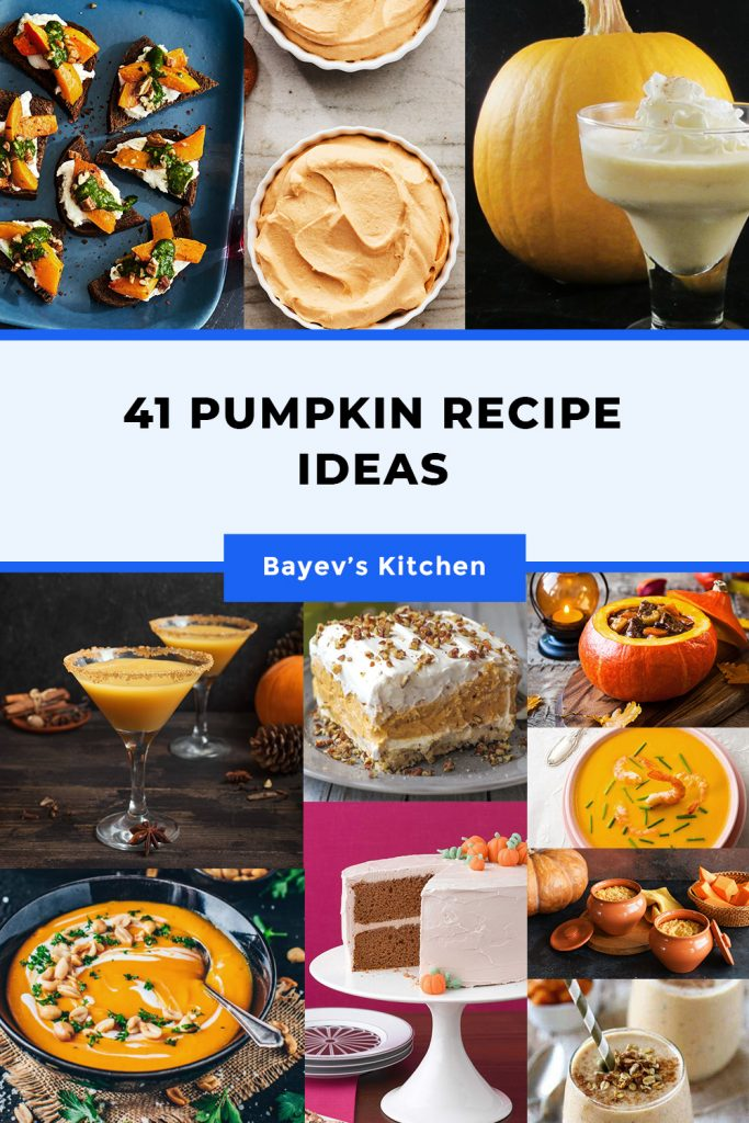 41 Pumpkin Recipe Ideas