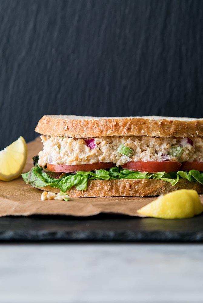 #10 Tuna and chickpea sandwich.