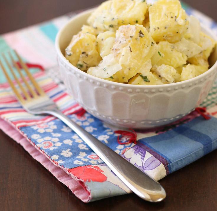 #11  Картофельный салат с кефиром.
