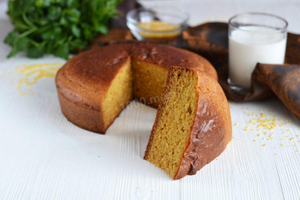 #17 Бездрожжевой кукурузный хлеб на основе кефира.