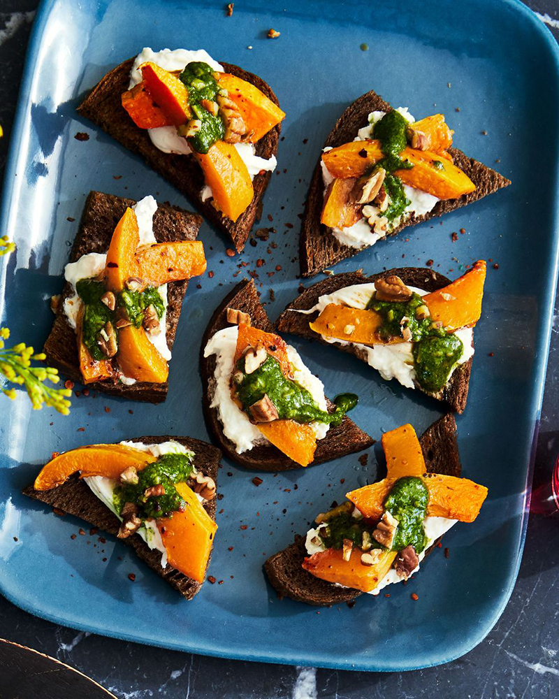 #2 Young pumpkin with pesto and crostini.