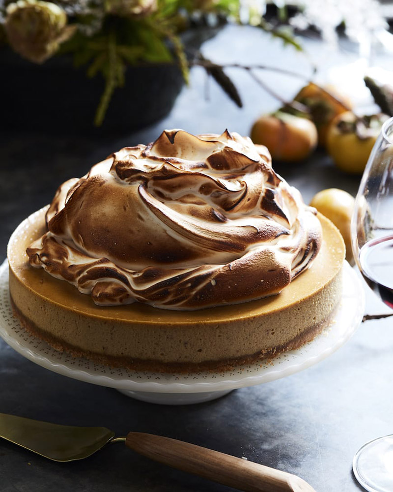#21  Pumpkin cheesecake with marshmallow.