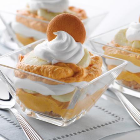 #22 .Banana-pumpkin pudding.