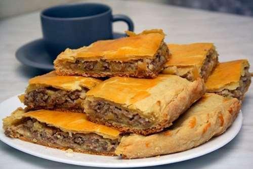 #24 Пирог с говяжьем фаршем на кефире