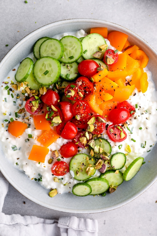 #25  Боул с овощами и творогом.