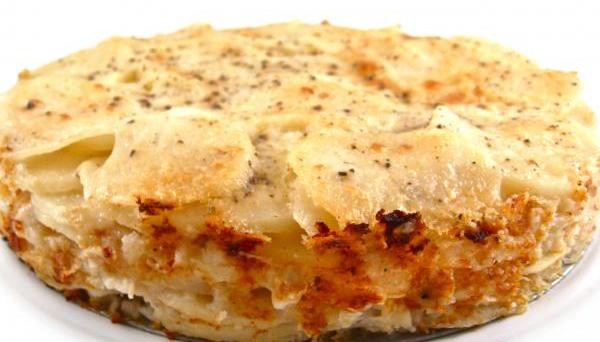 #27 Запеченный картофель с творогом.