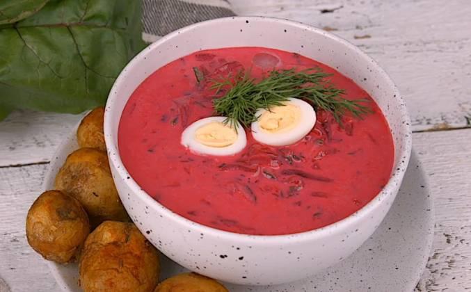 #28 Свекольный холодный суп на кефире.