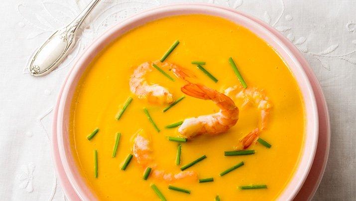 #29 Spicy pumpkin soup with shrimp..