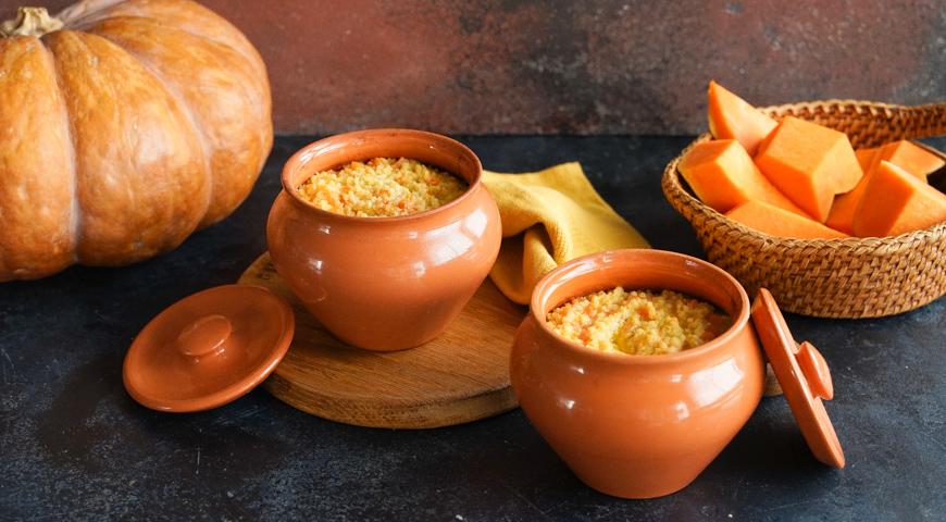 #30 Millet porridge with pumpkin in the oven.