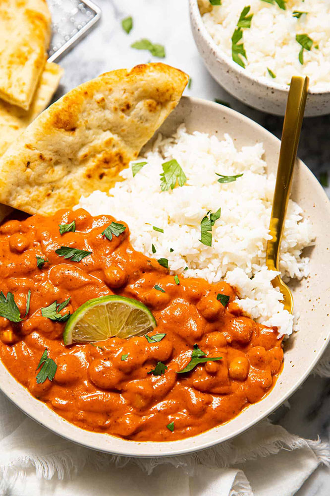 #31. Spicy chickpea masala.