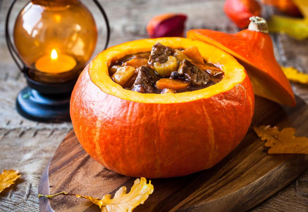 #39 Meat stew in a pumpkin pot.