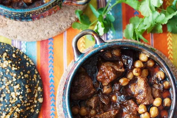 #40 Lamb with chickpeas and prunes.