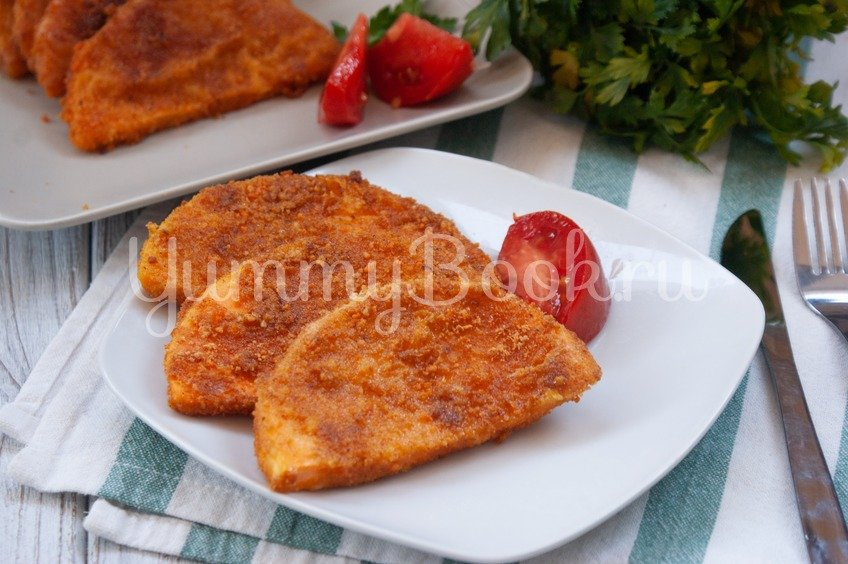 #40 Stir-fried breaded pumpkin.