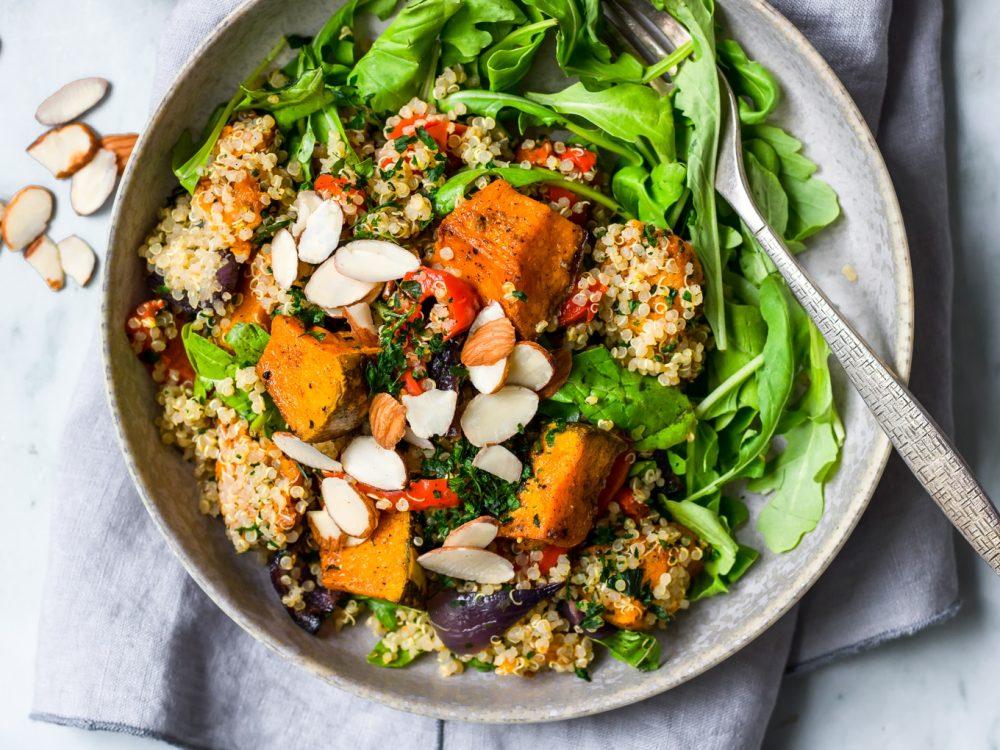 #9 Quinoa and pumpkin salad.