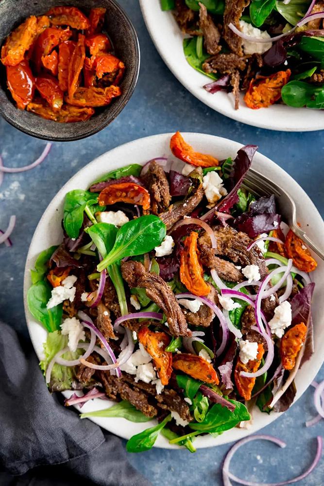 #1 Crispy lamb salad.