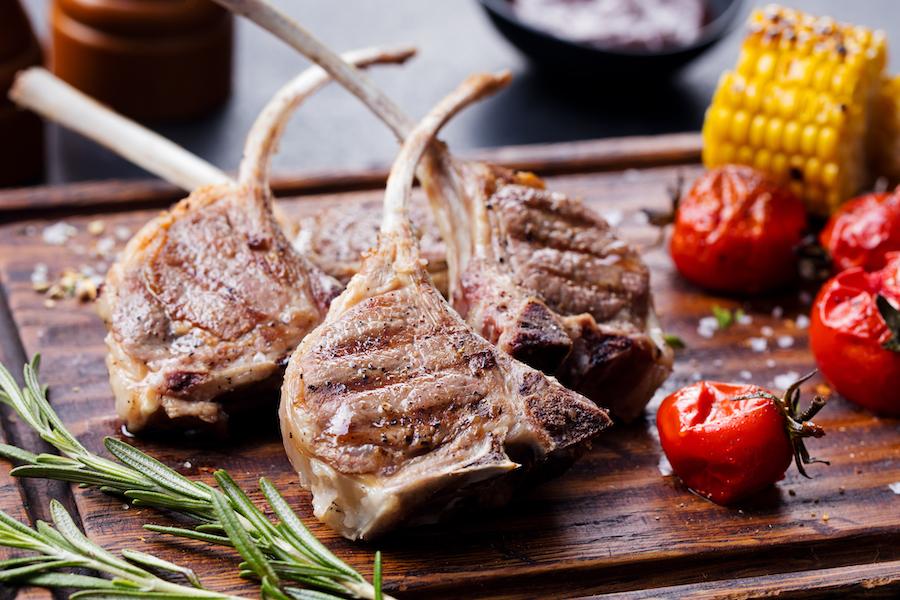 #43 Juicy lamb ribs.